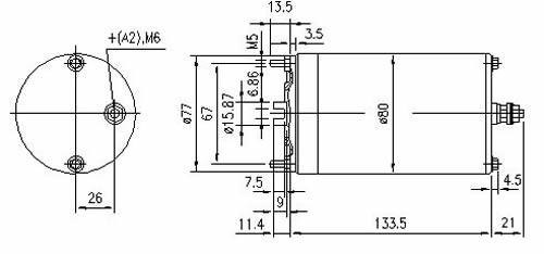 MM074 Letrika 12v 0.8KW CCW Rotation Motor MONARCH