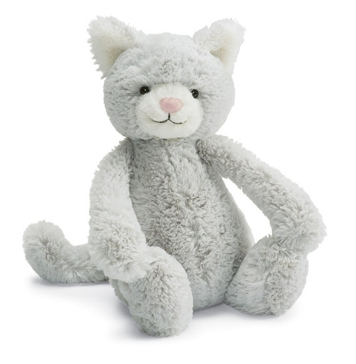 Jellycat Bashful Grey Kitty stuffed anmal