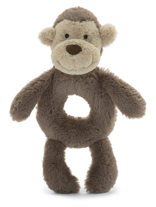 Jellycat Bashful Monkey Ring Rattle
