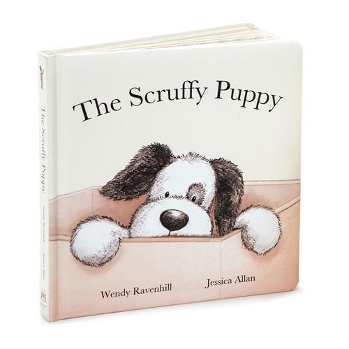 The Scruffy Puppy Board Book by Jellycat