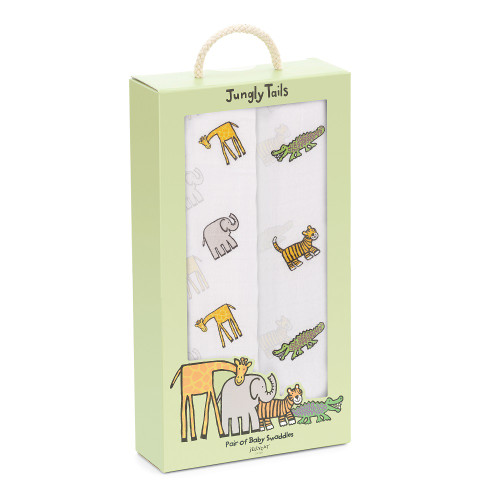 Jungly Tails Baby Swaddles by Jellycat