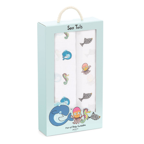 Sea Tails Baby Swaddles by Jellycat