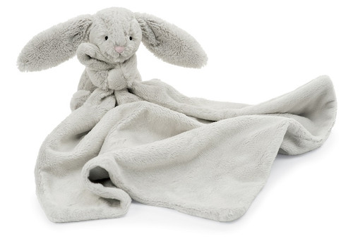 Bashful Grey Bunny Baby Soother by Jellycat
