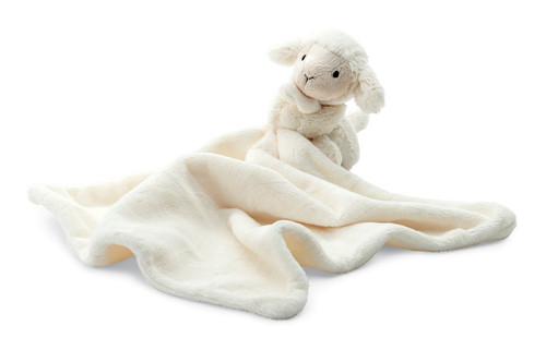 Bashful Lamb Baby Soother by Jellycat