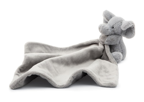 Bashful Grey Elephant Baby Soother by Jellycat