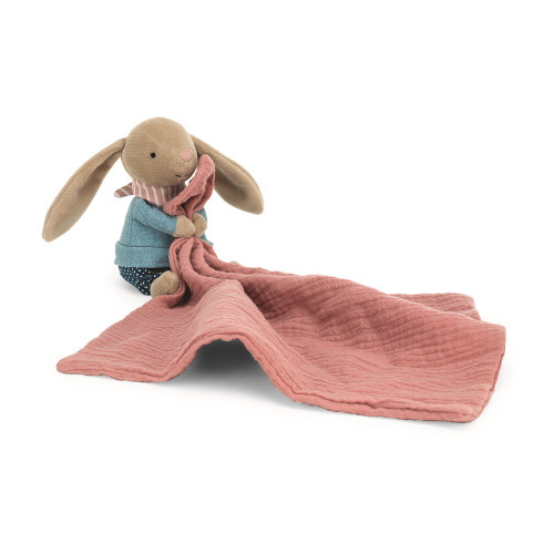 Little Rambler Bunny Muslin Soother by Jellycat