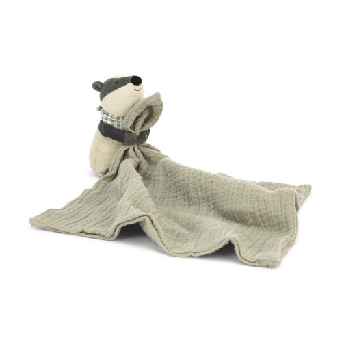 Little Rambler Badger Muslin Soother by Jellycat