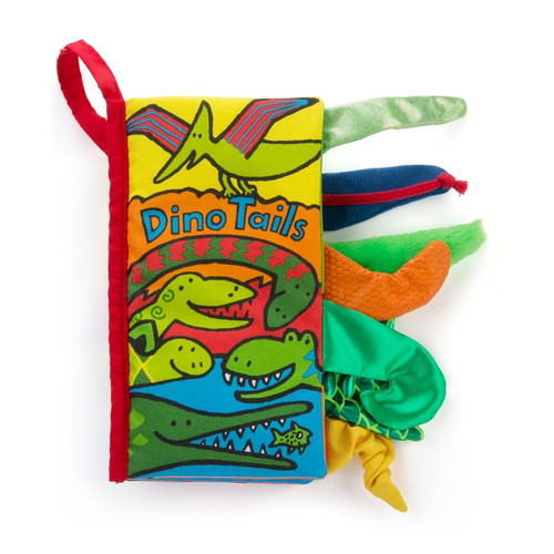 Dino Tails Soft Book by Jellycat