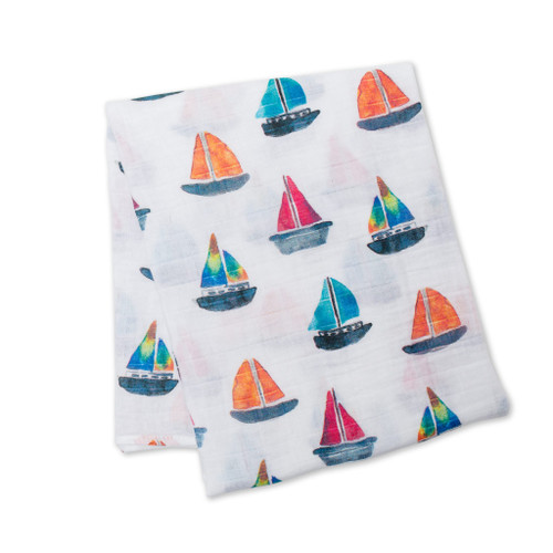 Sail Boats Baby Swaddle by Lulujo