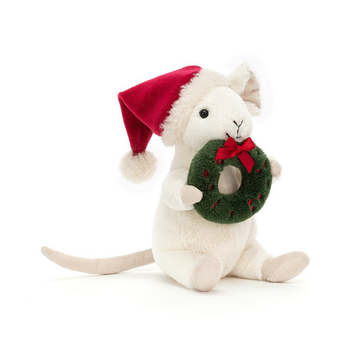 Merry Mouse Wreath by Jellycat