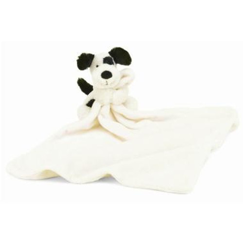 Jellycat Black & Cream Puppy Soother baby blankie