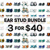 3 for $40 Wooden Ear Stud
