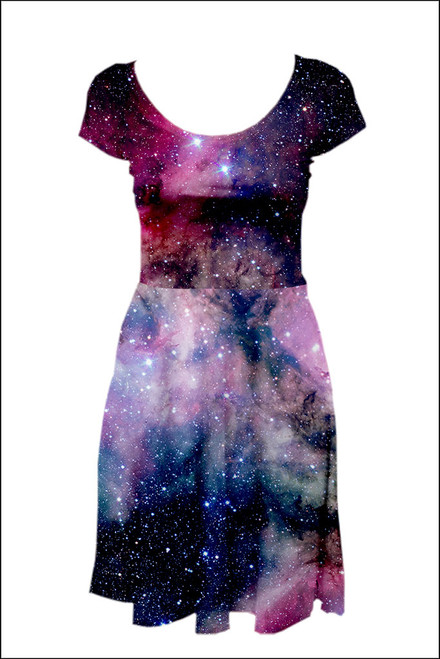 Candy Galaxy Reversible Cap Sleeve Skater