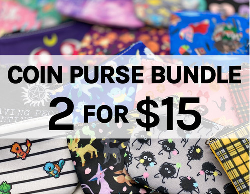 2 for $15 Coin Purses