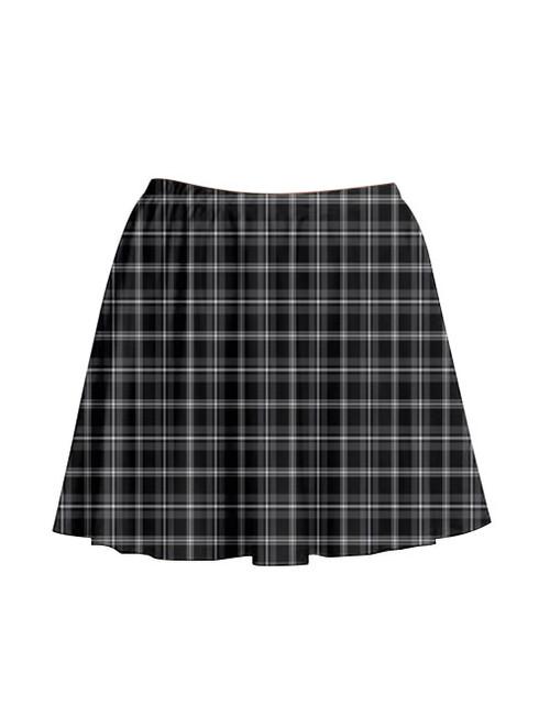 Pre-Order - Monochrome Mood Tartan Skirt