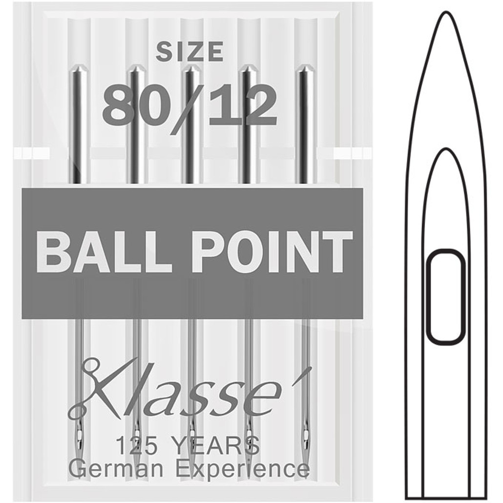 Klasse Ball Point Size 80-12 Sewing Needles