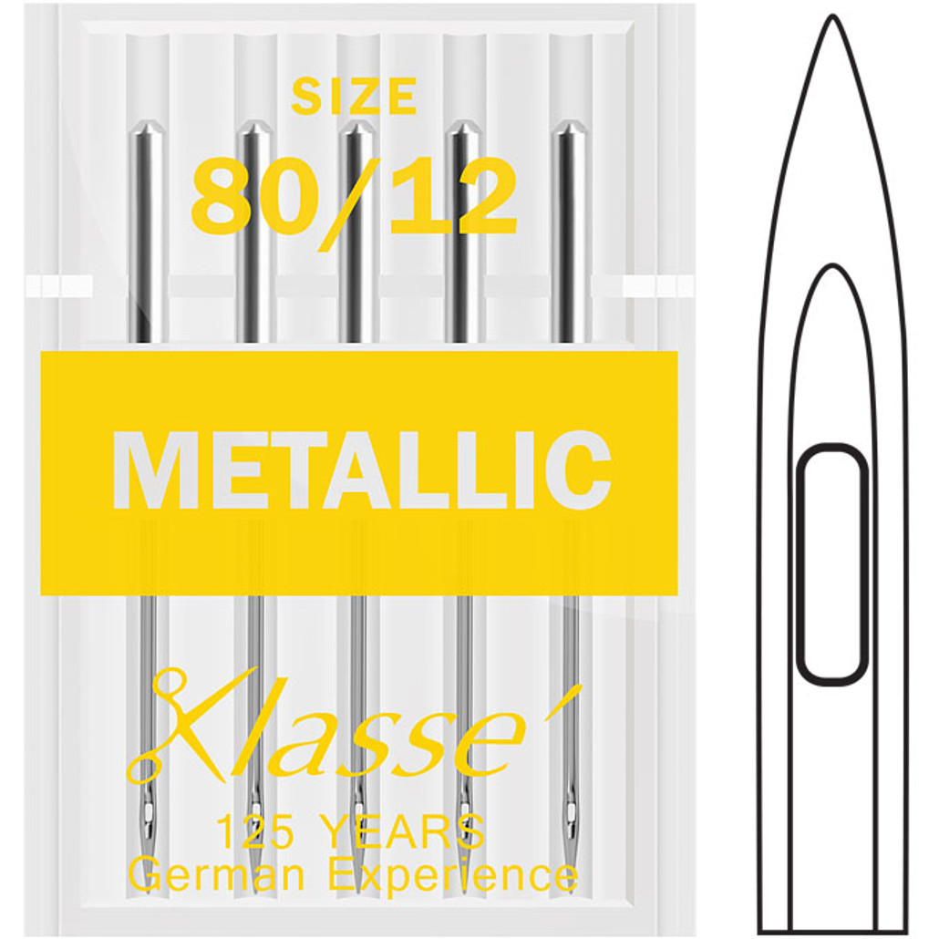 Klasse Metallic 80-12 Sewing Needles