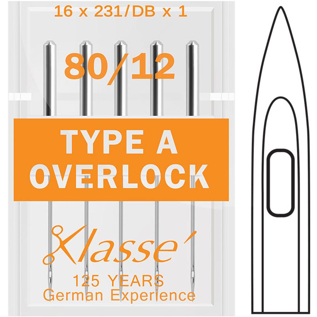 Klasse Overlock Type A 80-12 Sewing Needles