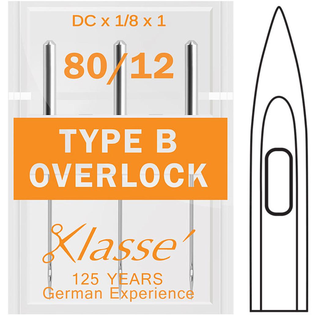 Klasse Overlock Type B 80-12 Sewing Needles