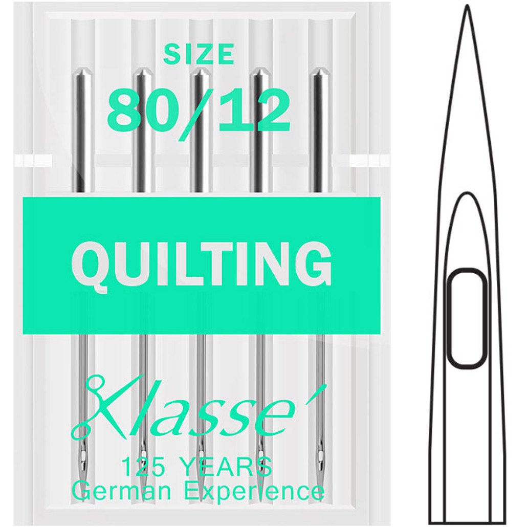 Klasse Quilting Machine Needles 80//12 for Janome or Brother Sewing Machines