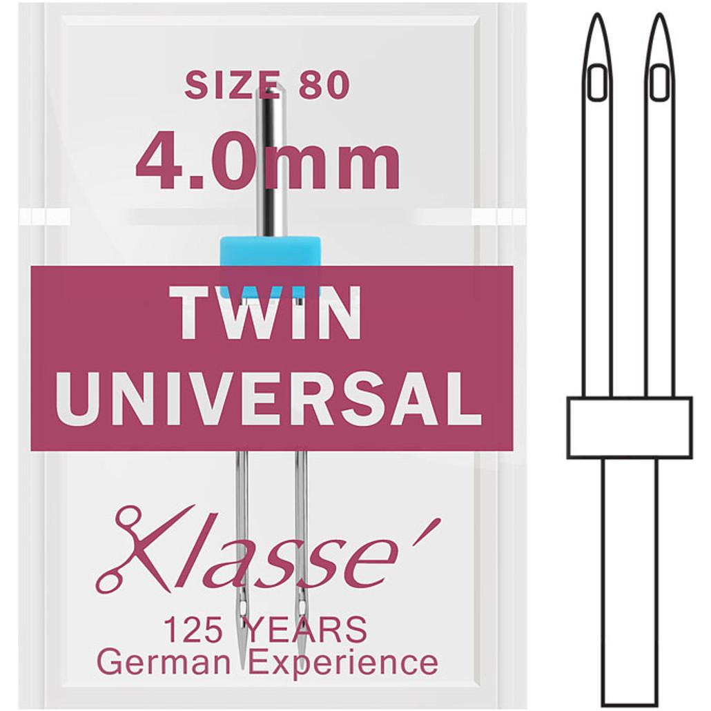 Klasse Twin Universal 80 - 4.0mm Sewing Needles