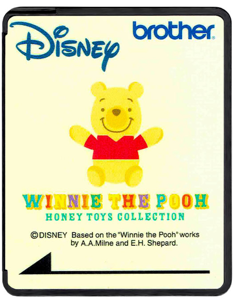 Brother Disney Embroidery Card SA313D - Winnie the Pooh Honey Toys Collection