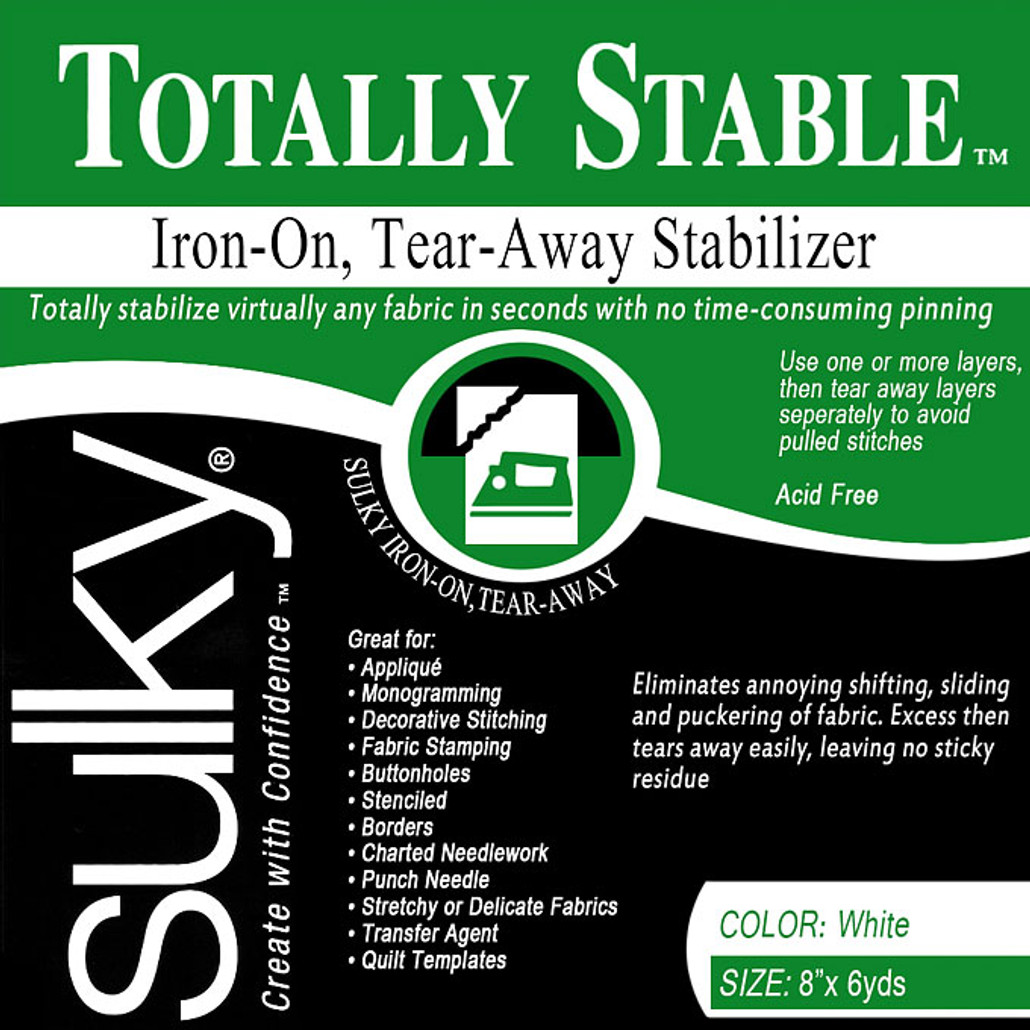 Sulky Totally Stable Stabilizer 8 in x 12 yds