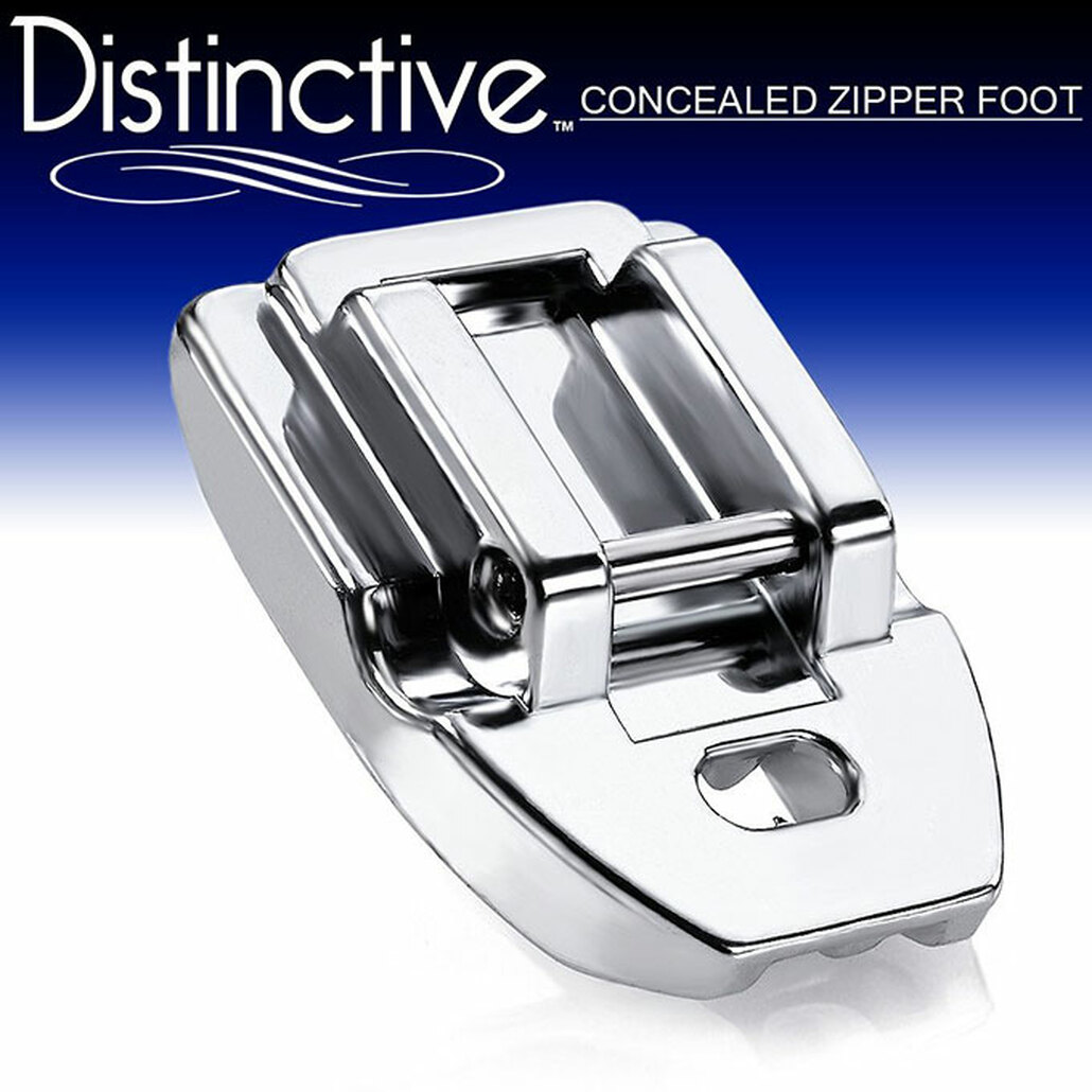 Distinctive Concealed Invisible Zipper Sewing Machine Presser Foot w/ Free Shipping