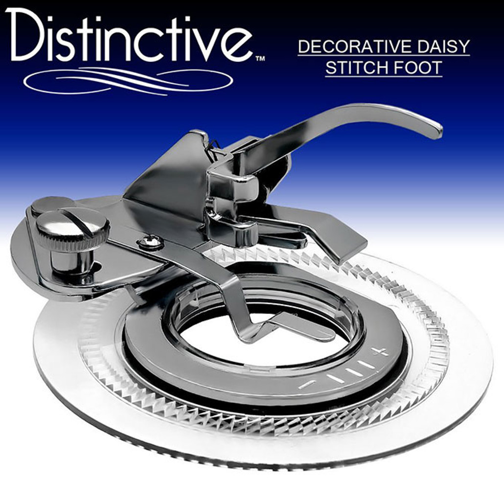 Distinctive Decorative Daisy Stitch Sewing Machine Presser Foot w/ Free Shipping
