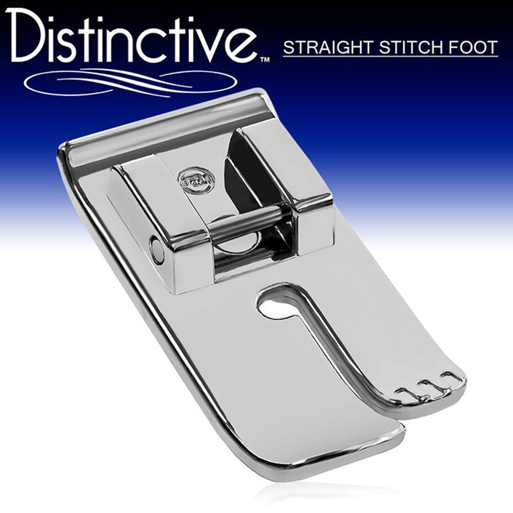 Distinctive Straight Stitch Sewing Machine Presser Foot w/ Free Shipping