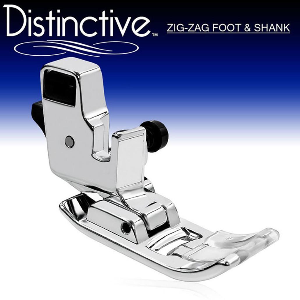 Distinctive Zig Zag Sewing Machine Presser Foot and Low Shank Adaptor w/ Free Shipping