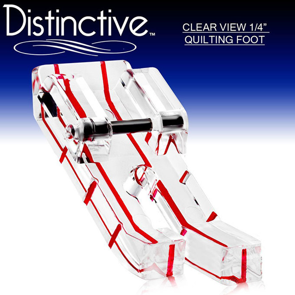 """Distinctive Clear View 1-4"""" Quilting/Sewing Machine Presser Foot w/ Free Shipping"""