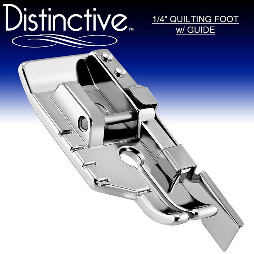 "Distinctive 1-4"" Quilting/Sewing Machine Presser Foot with Edge Guide w/ Free Shipping"