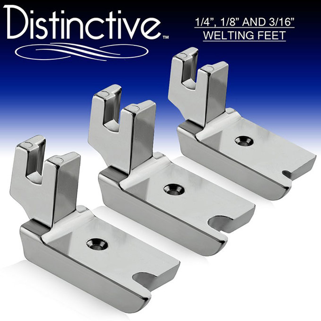 "Distinctive 1-4"", 1-8"" and 3-16"" Large Piping/Welting Sewing Foot Package w/ Free Shipping"
