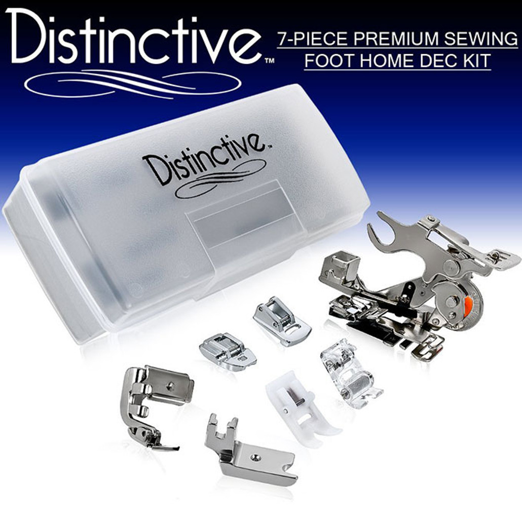 Distinctive 7-Piece Premium Sewing Foot Home Dec Package w/ Free Shipping