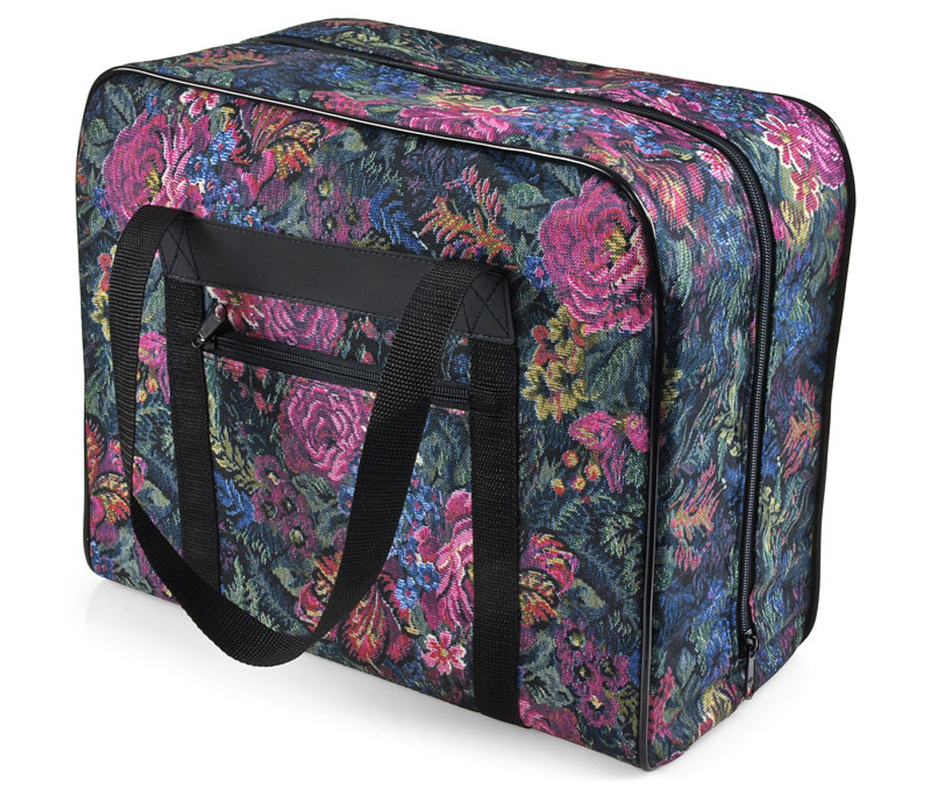 Distinctive Small Floral Pattern Premium Sewing Machine Tote Bag for 3/4 Sewing Machines
