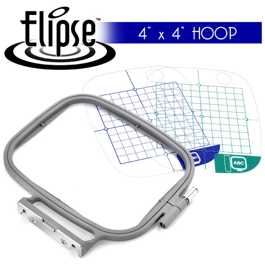 Elipse 4-inch x 4-inch Embroidery Hoop w/ Placement Grids