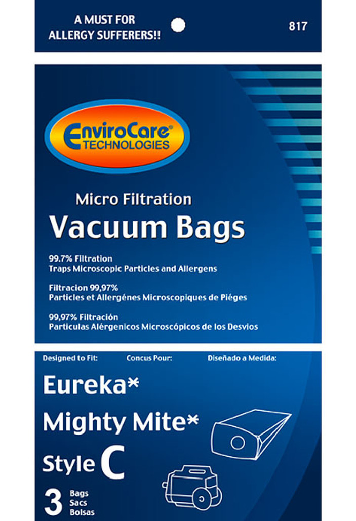 EnviroCare® Micro-Filtration Eureka Mighty Mite Style C Canister Vacuum Cleaner Bags
