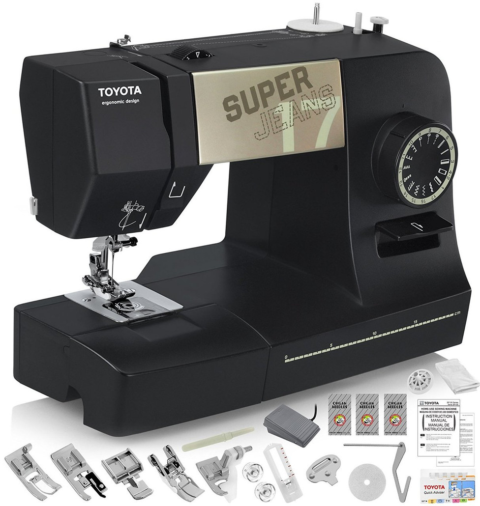 TOYOTA Super Jeans J17XL Sewing Machine with 17 Built-In Stitches