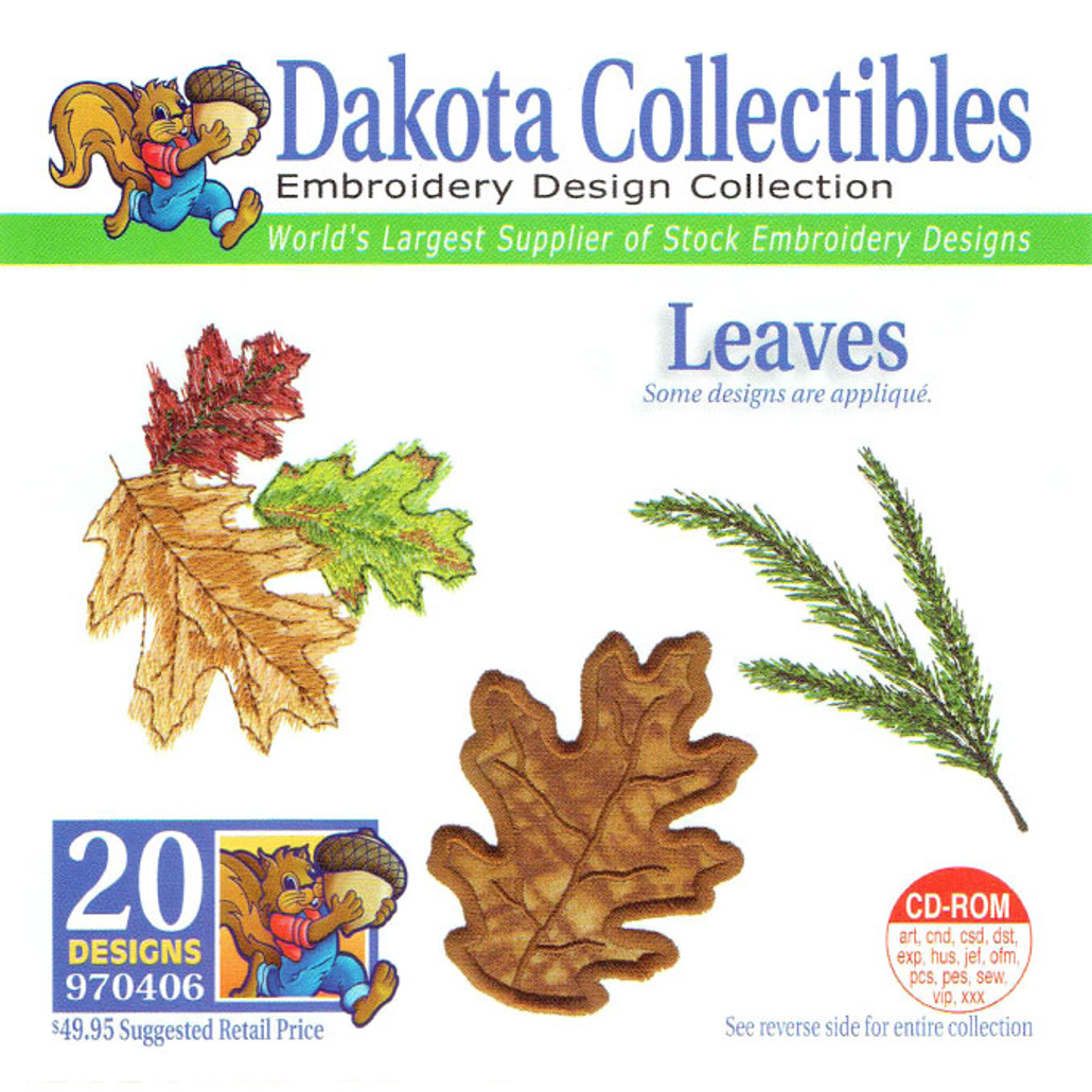 Dakota Collectibles Leaves Embroidery Design CD