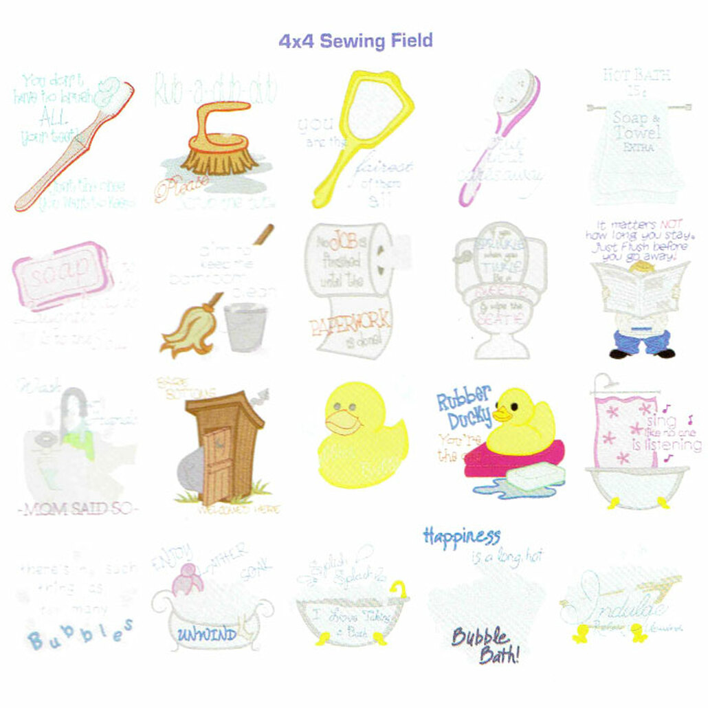 Dakota Collectibles Bathroom Talk Embroidery Design CD