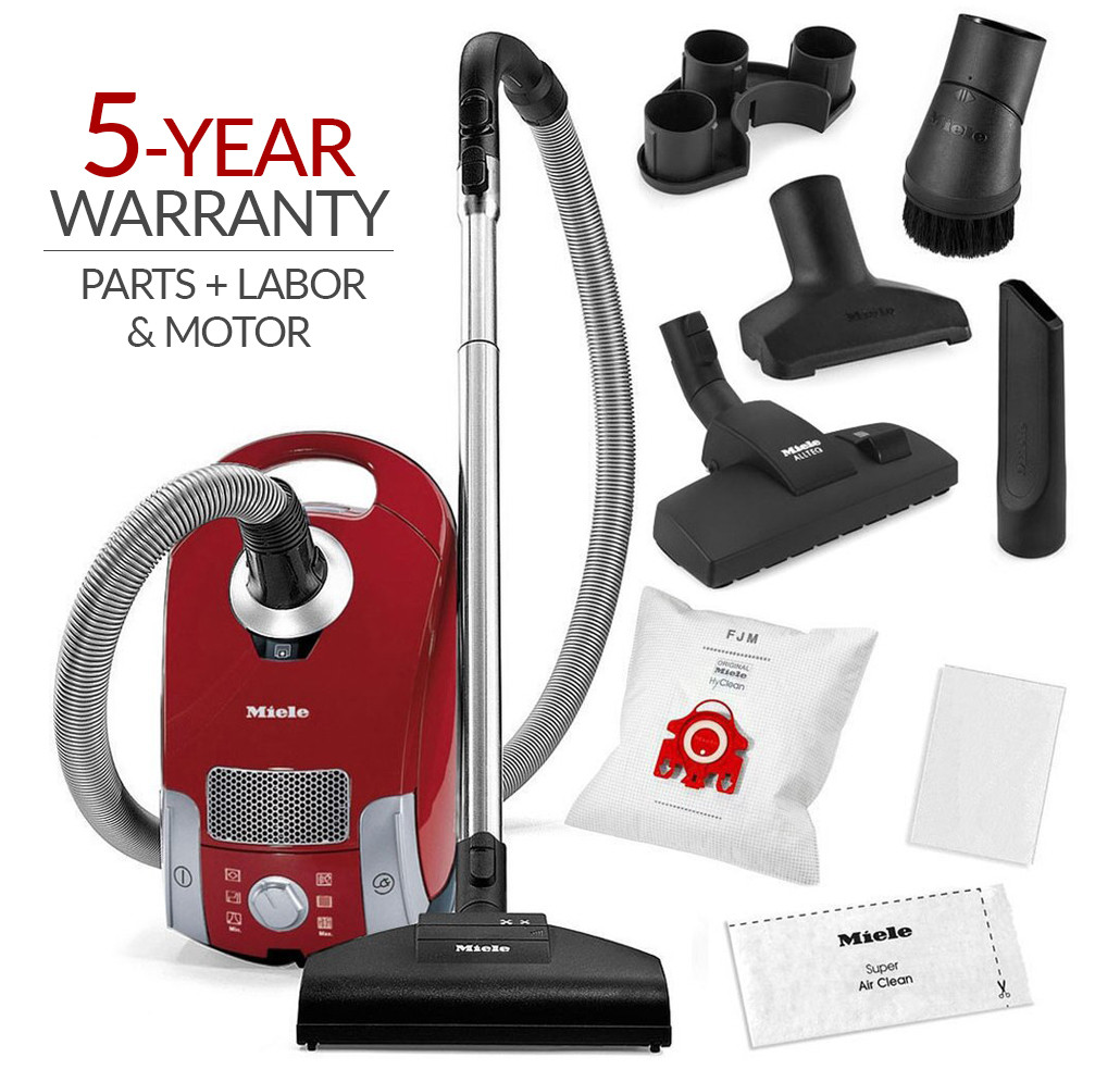 Miele Compact C1 HomeCare Canister Vacuum Cleaner & STB 205-3 Turbobrush w/ 5-Year Warranty!