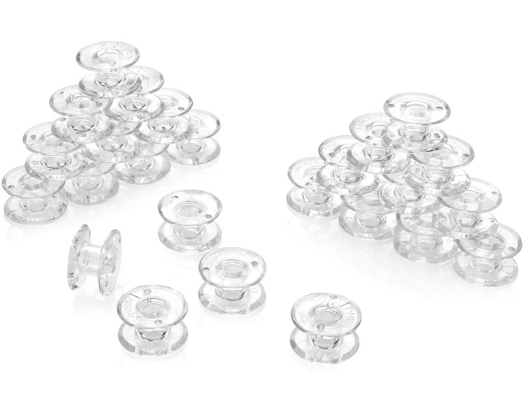 Toyota Style AISIN-1 Sewing Machine Bobbins for Toyota Super Jeans Machines – 25 Pack