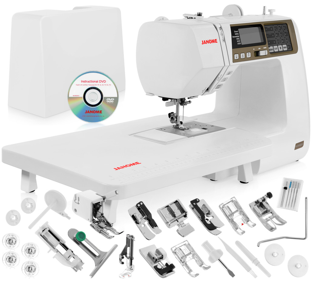 Janome 4120QDC Computerized Sewing Machine w/ Hard Cover + Instructional DVD + Quilt Kit + More!