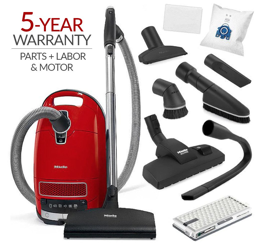 Miele Complete C3 HomeCare Canister Vacuum Cleaner & SEB 217-3 Powerbrush w/ 5-Year Warranty!