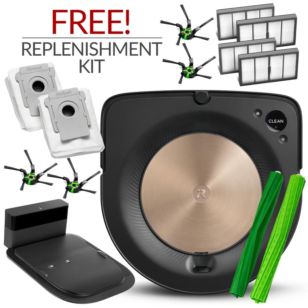 iRobot Roomba S9 Automatic Robotic Vacuum Cleaner w/ Free Genuine Replenishment Kit ($74.99 Value)
