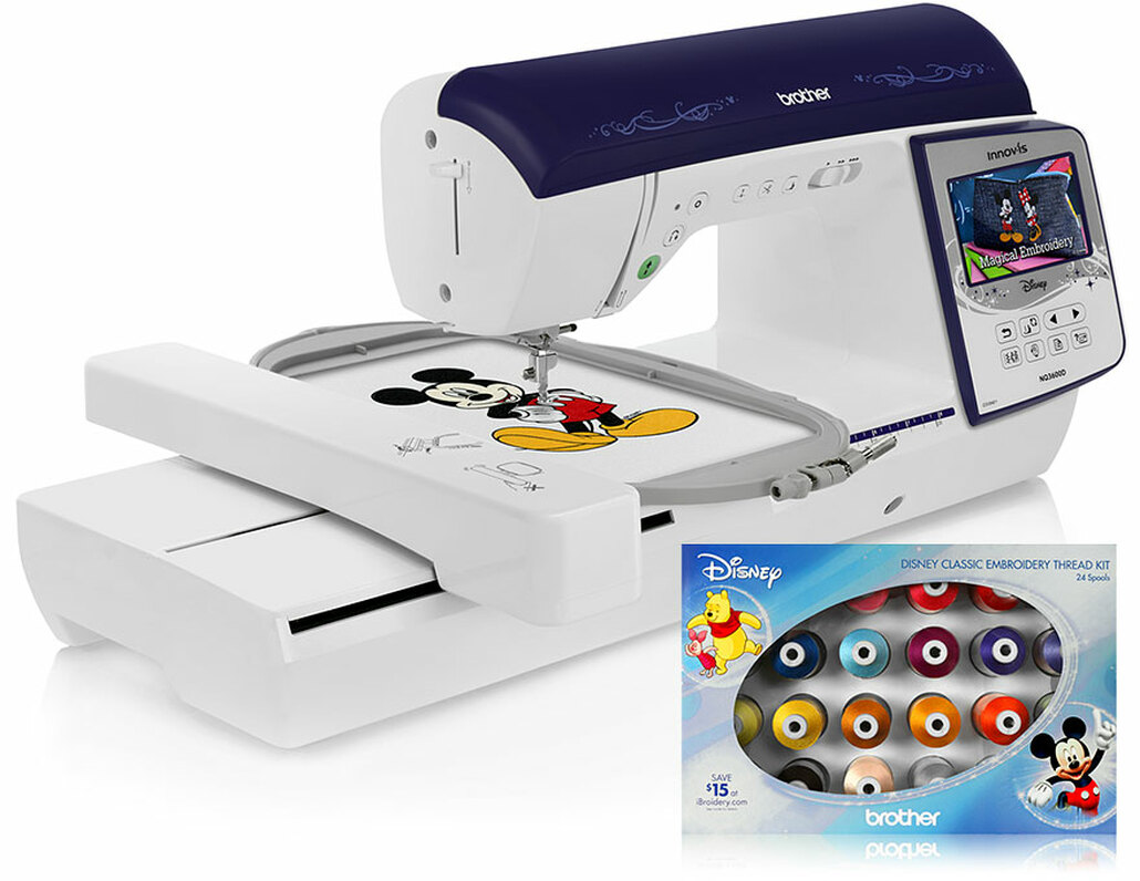 Brother Innov-ís NQ3600D (NQ 3600D) Sewing and Disney Embroidery Machine / Optional Grand Slam Embroidery Package