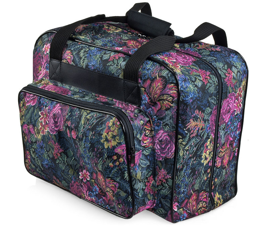 Distinctive Large Floral Pattern Premium Sewing Machine Universal Tote Bag