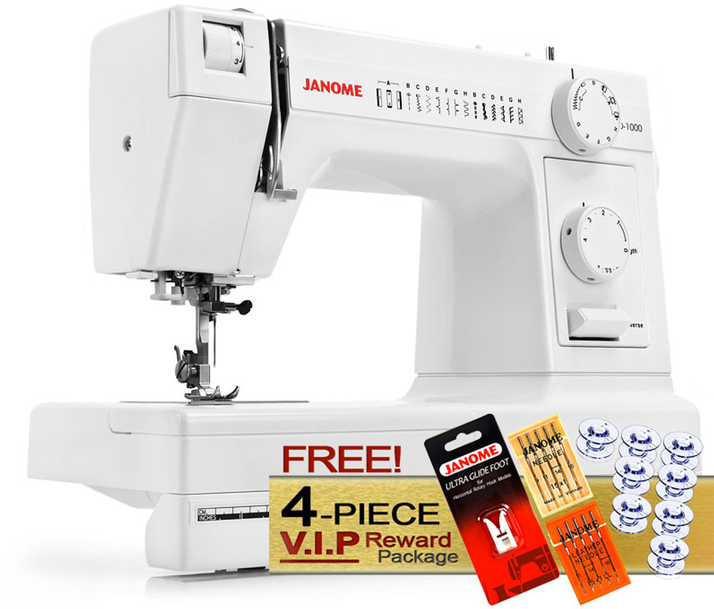 Janome HD1000 Heavy Duty Sewing Machine w/ FREE! 4-Piece V.I.P Reward Package and FREE! 2nd-Day Shipping