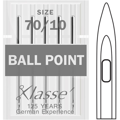 Klasse Ball Point Size 70-10 Sewing Needles